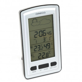 OMEGA DIGITAL WEATHER STATION LCD INDOOR/OUTDOOR WIRELLESS [42362]