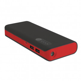 PLATINET POWER BANK 8000mAh + microUSB cable + torch BLACK/RED  [42418] EOL