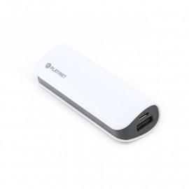 PLATINET POWER BANK LEATHER 2600mAh  WHITE + microUSB cable [43407]