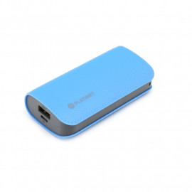 PLATINET POWER BANK LEATHER 5200mAh  BLUE + microUSB cable [43409]