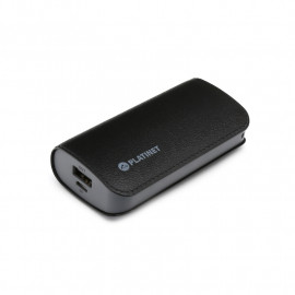 PLATINET POWER BANK LEATHER 5200mAh  BLACK + microUSB cable [43408]