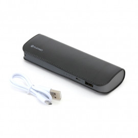 PLATINET POWER BANK LEATHER 7200mAh  BLACK + microUSB cable [43412]