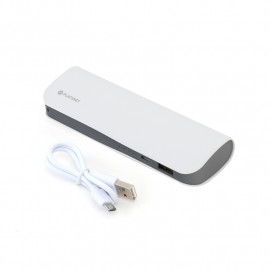 PLATINET POWER BANK LEATHER 7200mAh  WHITE + microUSB cable [43415]