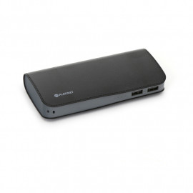PLATINET POWER BANK LEATHER 15000mAh BLACK + microUSB cable [43674]