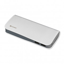 PLATINET POWER BANK LEATHER 11000mAh WHITE + microUSB cable [43714]